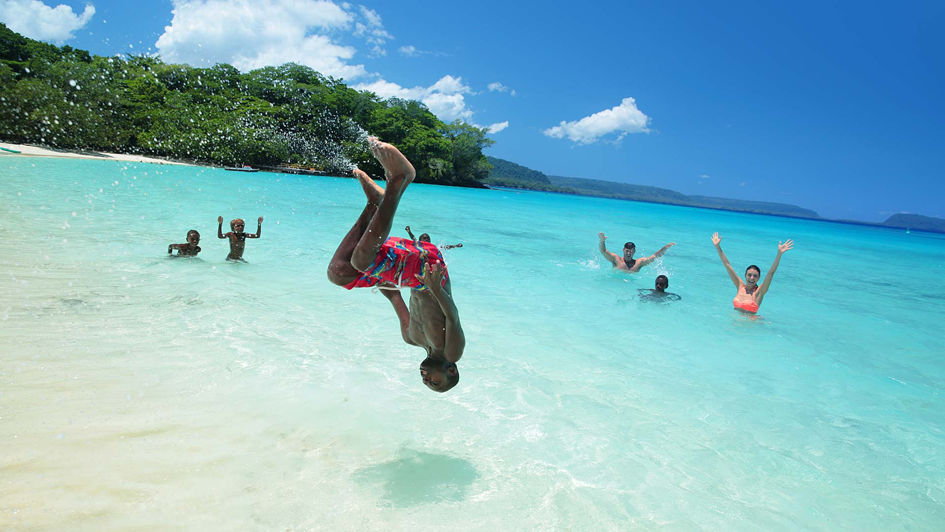 Make new friends at the Vanuatu beach